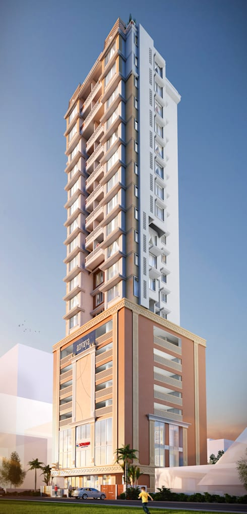 22 Floors Residential Building: classic Houses by Aum Architects