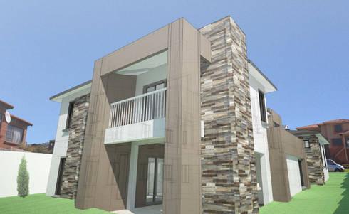 Balcony:  Patios by A4AC Architects