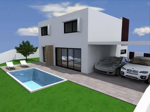 Vivenda Unifamilar <q>JM</q>: Casas modernas por Traço M - Arquitectura
