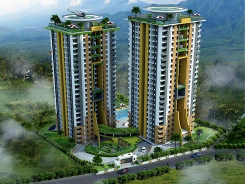 Sanctuary Apartments at Trivandrum, Kerala:   by Vastushilpalaya Consultancy Pvt. Ltd.