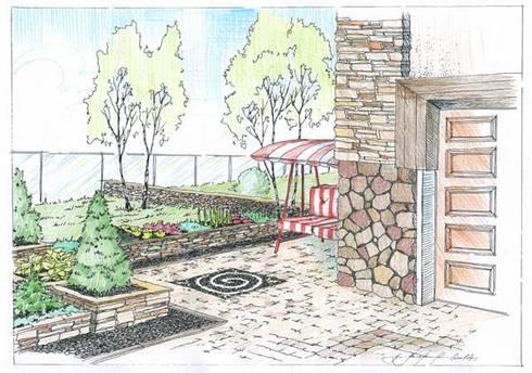Projectos de Arquitectura Paisagista: Hotéis  por ECOSSISTEMAS; Áreas Verdes e Sistemas de Rega.
