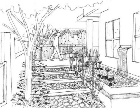 Projectos de Arquitectura Paisagista: Clínicas  por ECOSSISTEMAS; Áreas Verdes e Sistemas de Rega.