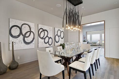 Formal Dining Area: minimalistic Dining room by GSI Interior Design & Manufacture