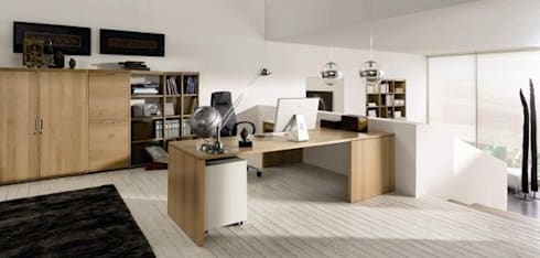 Study Area: modern Study/office by GSI Interior Design & Manufacture