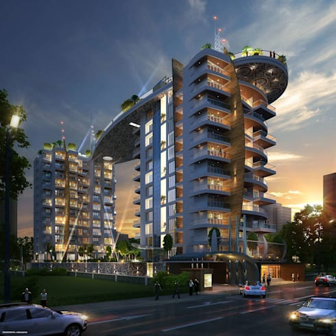 ICONIC premium luxury Residential building:   by AIS Designs