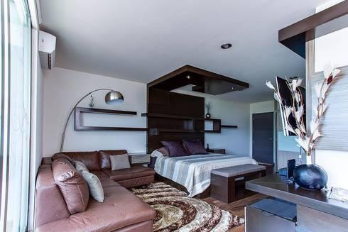 Interiorismo y diseño de mobiliario.: Recámaras de estilo moderno por Besana Studio