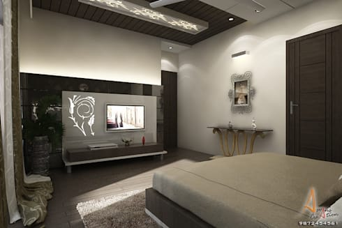 master bedroom2: modern Bedroom by A Mans Creation