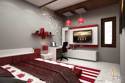 daughter room: modern Bedroom by A Mans Creation