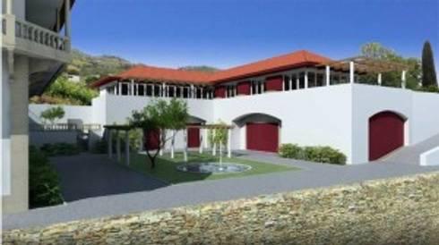 Adega e Centro de Visitas na Quinta do Bomfim – Pinhão:   por Norasil - Sociedade de Construção Civil, S.A.
