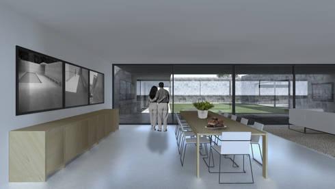 Casa Lamego: Salas de jantar modernas por Lousinha Arquitectos