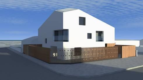 Casa Fonte: Casas modernas por Lousinha Arquitectos