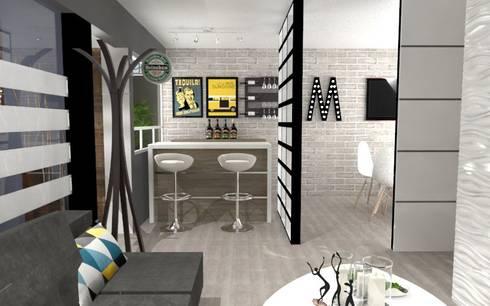 BAR: Comedores de estilo ecléctico por AurEa 34 -Arquitectura tu Espacio-