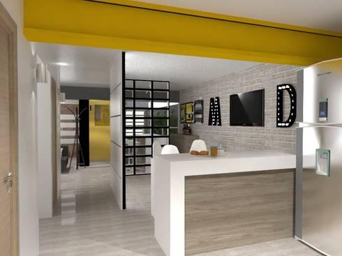 BARRA: Cocinas de estilo ecléctico por AurEa 34 -Arquitectura tu Espacio-