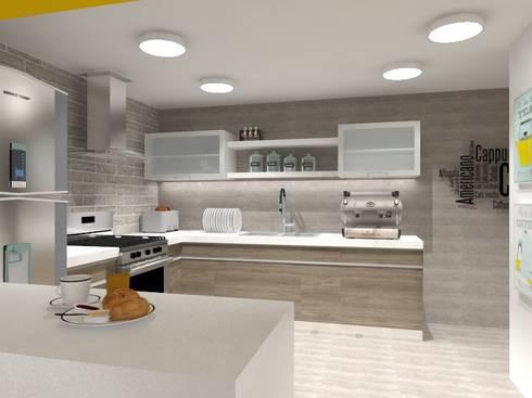 COCINA: Cocinas de estilo ecléctico por AurEa 34 -Arquitectura tu Espacio-