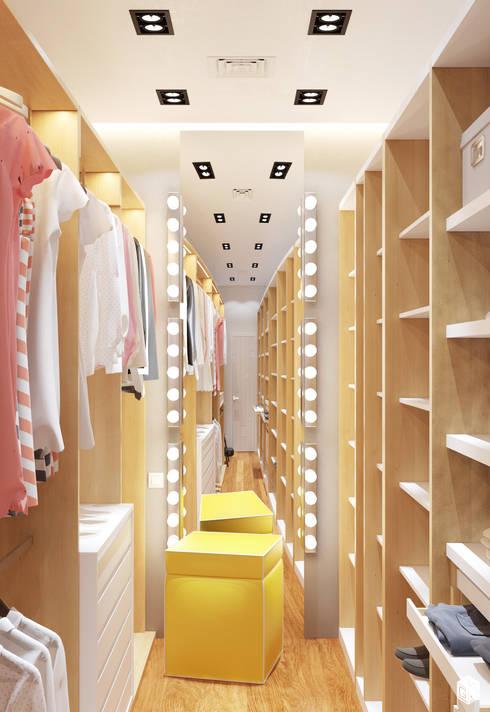 Vestidores y closets de estilo moderno por 2GO Design Studio