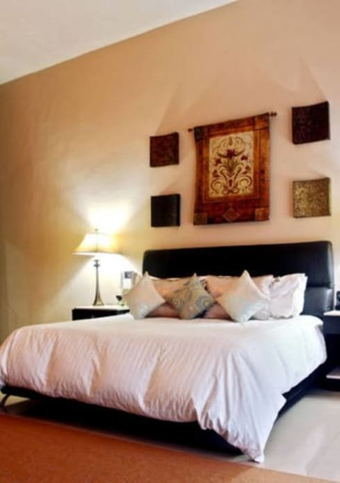 Casa OC: Recámaras de estilo moderno por AIDA TRACONIS ARQUITECTOS EN MERIDA YUCATAN MEXICO