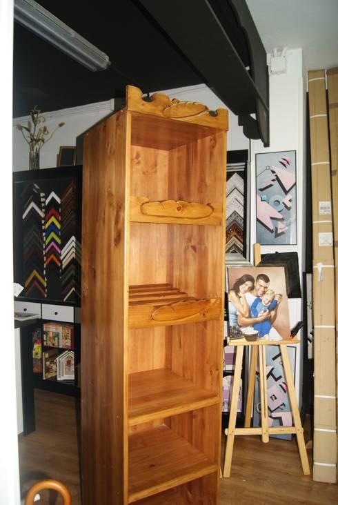 Mueble expositor tienda de el sitio del carpintero homify for Almacen del mueble
