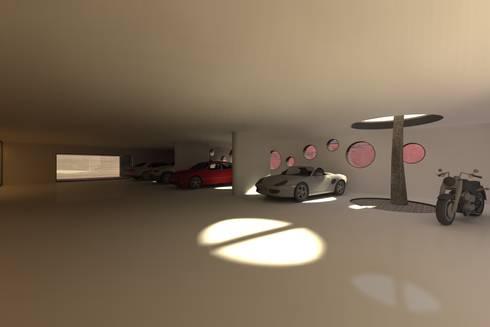 Casa Luanda: Garagens e arrecadações modernas por Lousinha Arquitectos
