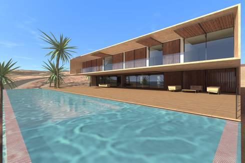 Casa Luanda: Terraços  por Lousinha Arquitectos
