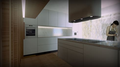 Projecto Cozinha : Cozinhas modernas por Lousinha Arquitectos