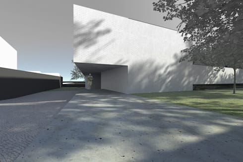 Casa Águeda: Casas minimalistas por Lousinha Arquitectos