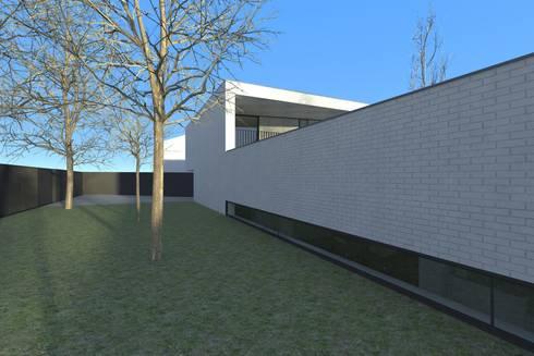 Casa Águeda: Jardins minimalistas por Lousinha Arquitectos