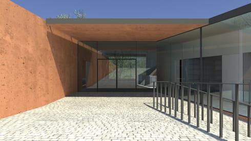 Centro Paroquial de Aguim: Casas minimalistas por Lousinha Arquitectos