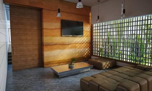 Estudio / Sala de estar: Estudios y despachos de estilo moderno por Gliptica Design