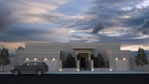 Casa Zaragoza:  de estilo  por Proyecta Studio