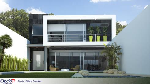 Casa en cuernavaca: Casas de estilo moderno por Global Render