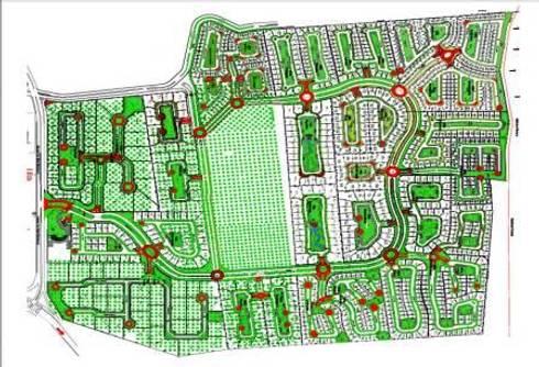 DESARROLLO RESIDENCIAL: Jardines de estilo moderno por MARIO TALAMAS