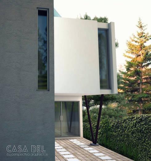 Casa BEL: Casas de estilo moderno por Perspectiva Arquitectos México