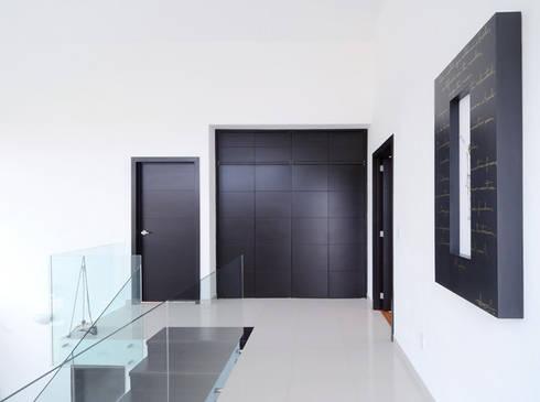 EL PASILLO DISTRIBUIDOR: Estudios y oficinas de estilo minimalista por Excelencia en Diseño
