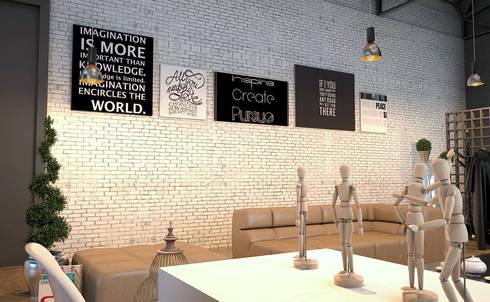 INTERIOR: Salas de estilo moderno por PROYECTARQ   ARQUITECTOS