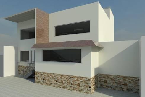 Casa Santa María: Casas de estilo moderno por Perfil Arquitectónico