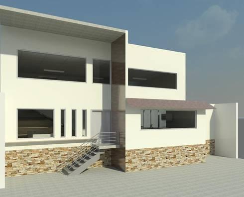 Fachada Principal: Casas de estilo moderno por Perfil Arquitectónico