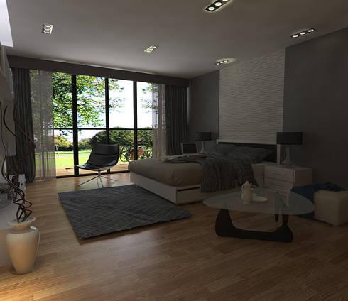 Render de recamara de tca torres chapa arquitectos homify for Render casa minimalista