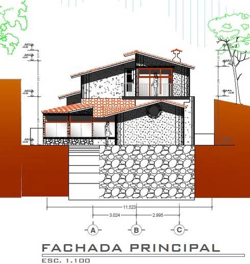 Casa Rojas: Casas de estilo  por Arquitecto Eduardo Carrasquero