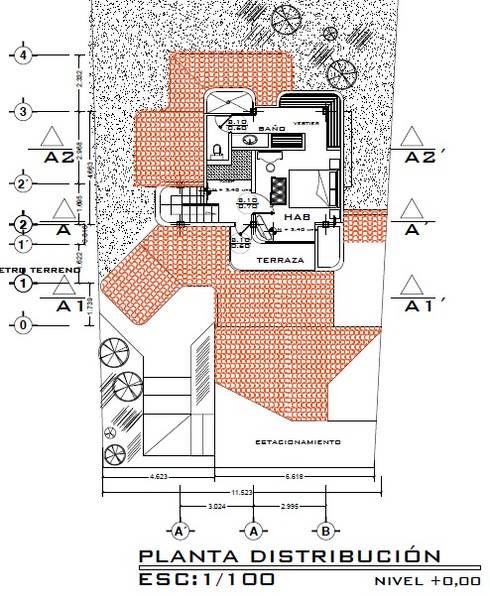 Casa Rojas: Cuartos de estilo  por Arquitecto Eduardo Carrasquero