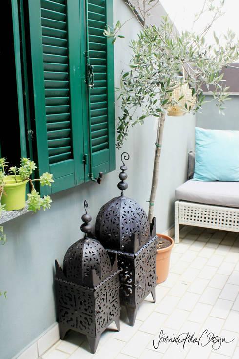 Terrazas de estilo  por Severine Piller Design LLC