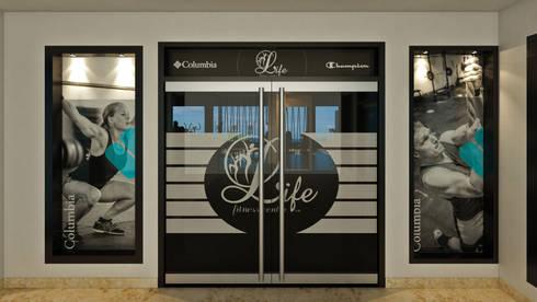 Life Fitness Center: Gimnasio de estilo  por NOGARQ C.A.