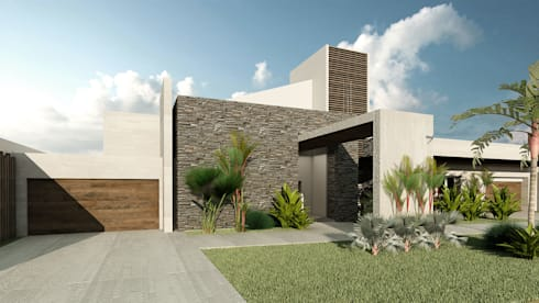 Villa Arellano: Casas de estilo moderno por NOGARQ C.A.