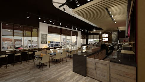 Gran Paris Bakery: Restaurantes de estilo  por NOGARQ C.A.