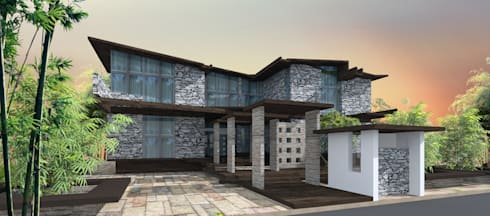 Projects—Residential: rustic Houses by Jehovah Nissi Archfirm