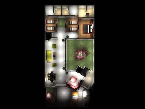PLANTA CASA BILBAO: Casas de estilo minimalista por PUNTO A PUNTO ARQUITECTURA