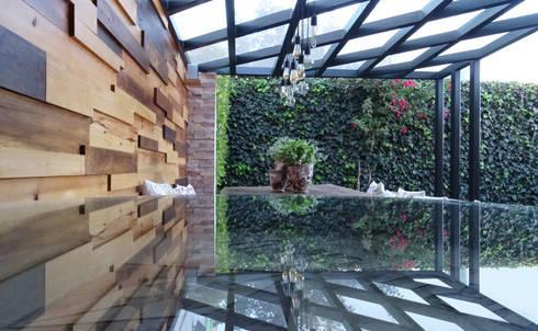 Terraza perspectiva 1: Jardín de estilo  por Arquitectos M253