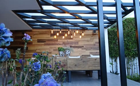 Terraza perspectiva 2: Jardín de estilo  por Arquitectos M253