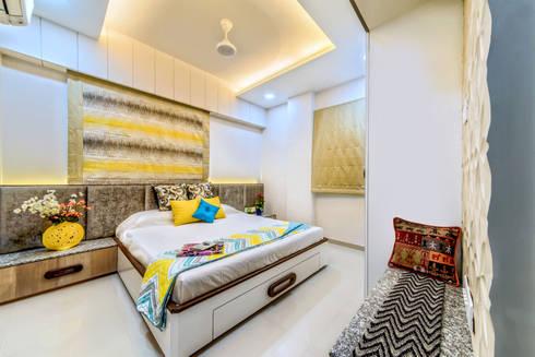 Bedroom: eclectic Bedroom by Saar Interior Design