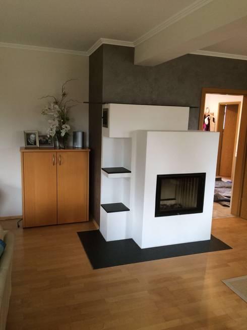 modern Living room by Speicherofen Bernhard Schleicher e.K.