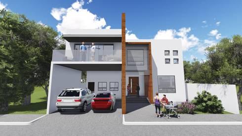 Residencia Santa Bárbara: Casas de estilo moderno por TEKTÓNIKA arquitectura + diseño